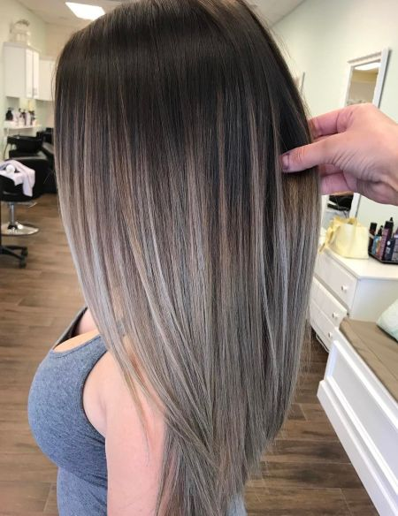 Silver-Gray-Balayage-Ombre-Hair Balayage and Everything About This Trendy Hair Color