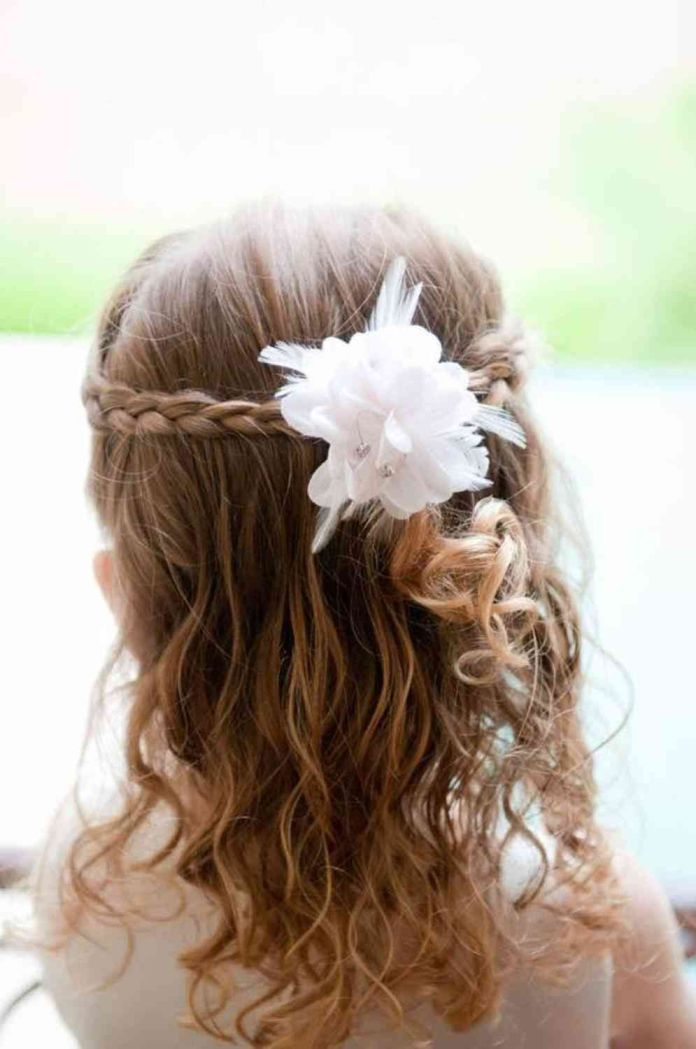 Simple-Two-Side-Braid-Hairstyle Most Cutest Flower Girl Hairstyles