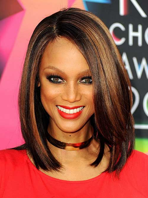 Straight-Long-Bob-Hairstyle-for-Black-Women 15 Ultimate Straight Long Bob Hairstyles