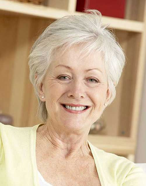 Stylish-Short-Hairstyle Most Beloved Short Hair Styles for Older Women