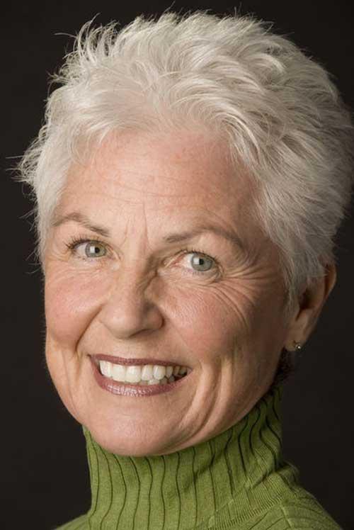 Super-Short-Hair Most Beloved Short Hair Styles for Older Women