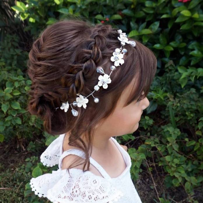 The-Buffet-Braid-Hairstyle Most Cutest Flower Girl Hairstyles