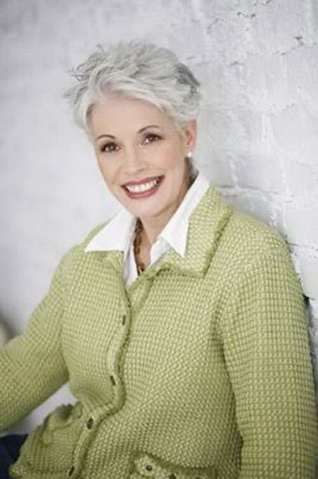 Thin-Hair 19 Great Pixie Haircuts for Older Women