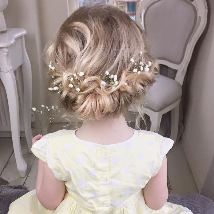 Traditional-Flower-Girl-Hairstyle Most Cutest Flower Girl Hairstyles