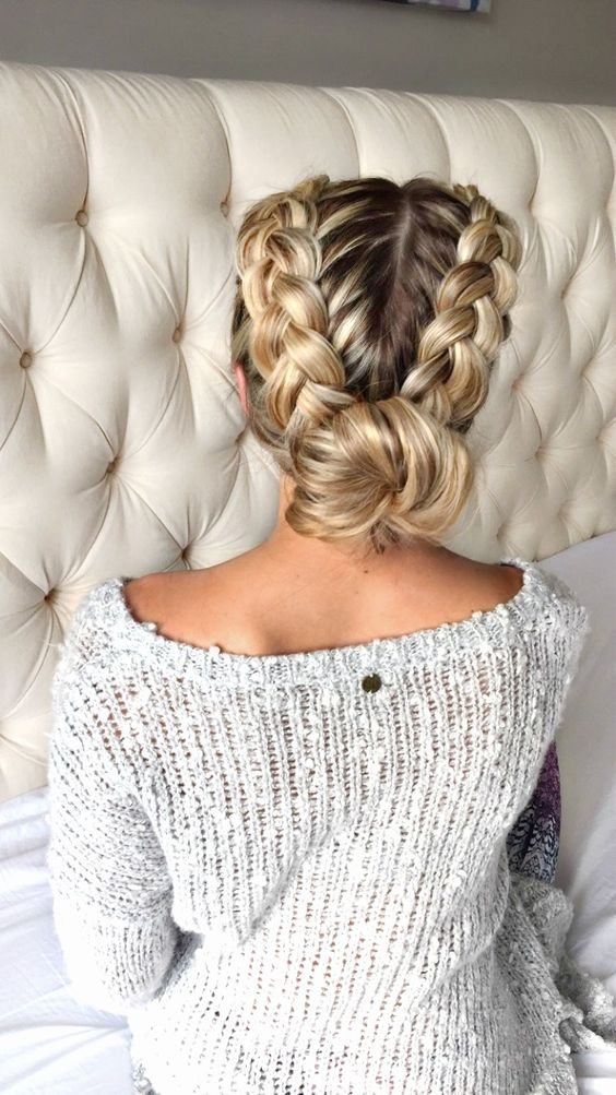 Two-Side-Ponytail-Braids Long Braided Hairstyles to Look Beautiful as Never Before