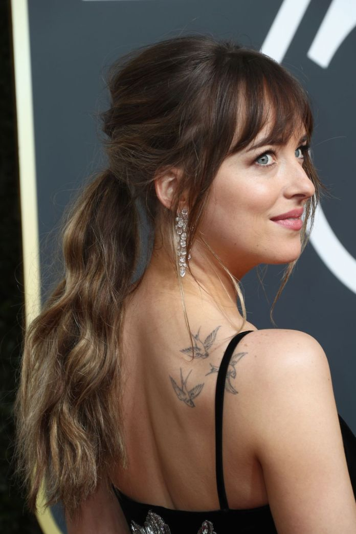 Wavy-Ponytail-with-Bangs 12 Hairstyles for Fine Hair That Won't Fall Flat