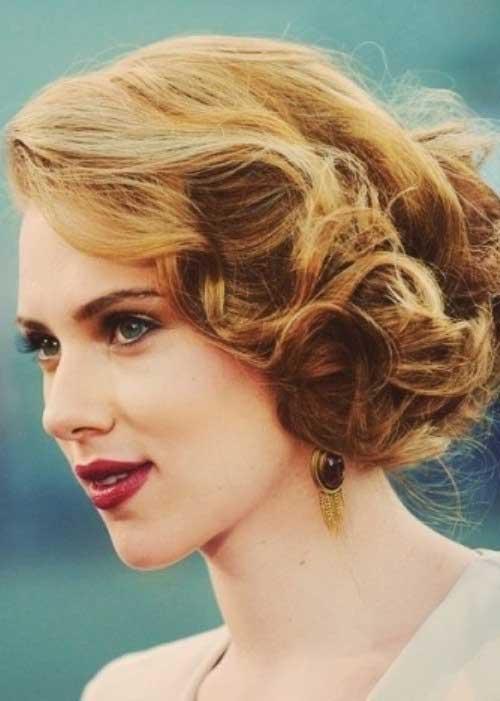 Wedding-Blonde-Bob-Curly-Hair-Idea Best Wedding Bob Hairstyles You will Look Like Princess