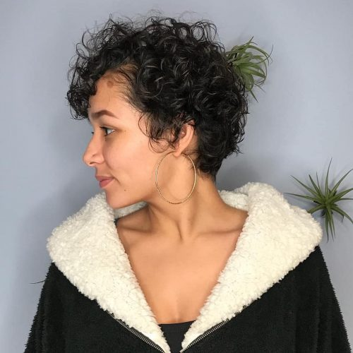 lovely-curly-bangs 14 flattering and eye-catching hairstyles for short curly hair