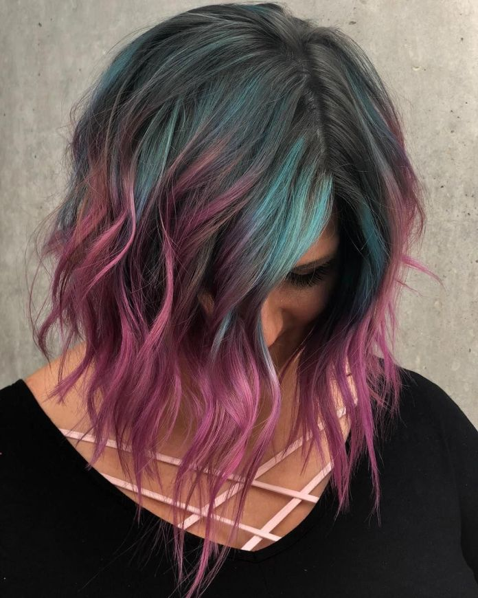 Blue-and-Pink-Hair-Color 21 Hair Color Trends 2020 to Glam Up Your Tresses