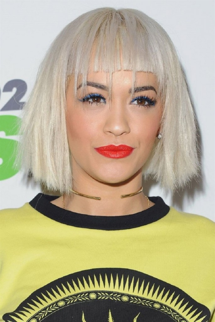 Blunt-Blonde-Bob 15 Hairstyles with Bangs for an Ultimate Gorgeous Look