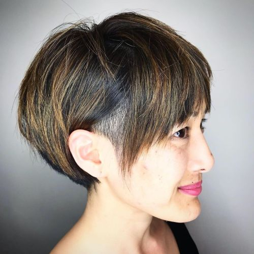Bob-with-Hidden-Undercut 15 Stylish, Modern Undercut Bob Haircut in 2020