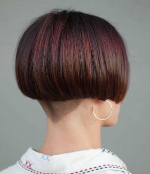 Bob-with-Undercut-Nape 15 Stylish, Modern Undercut Bob Haircut in 2020