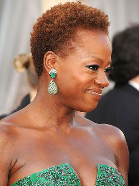 Celebrity-Hair 33 Short Curly Natural Hairstyles for Black Women