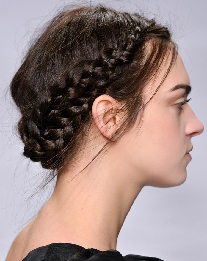 Chic-Messy-Braid 21 Halo Braids to Uplift Your Overall Appearance
