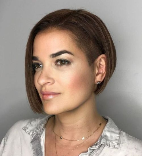 Concave-Bob-with-an-Undercut-Temple 15 Stylish, Modern Undercut Bob Haircut in 2020