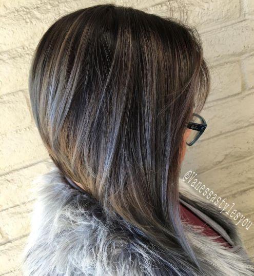Cool-Toned-Angled-Bob 14 Trendy Balayage Short Hairstyles