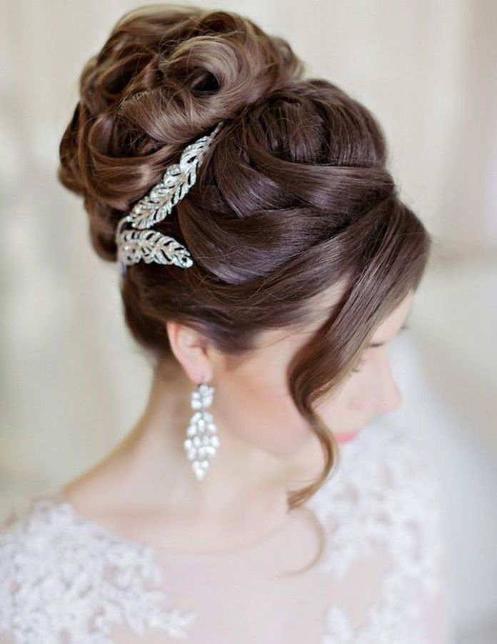 Fancy-French-Bun 21 Bridal Hairstyles 2020 for an Elegant Look
