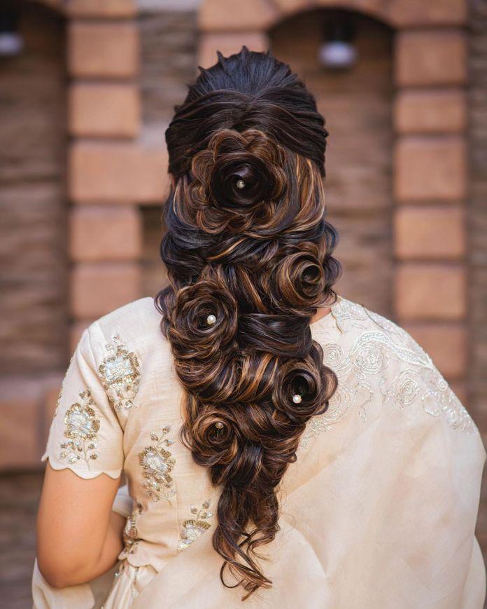 Flowers-in-Hair 21 Bridal Hairstyles 2020 for an Elegant Look