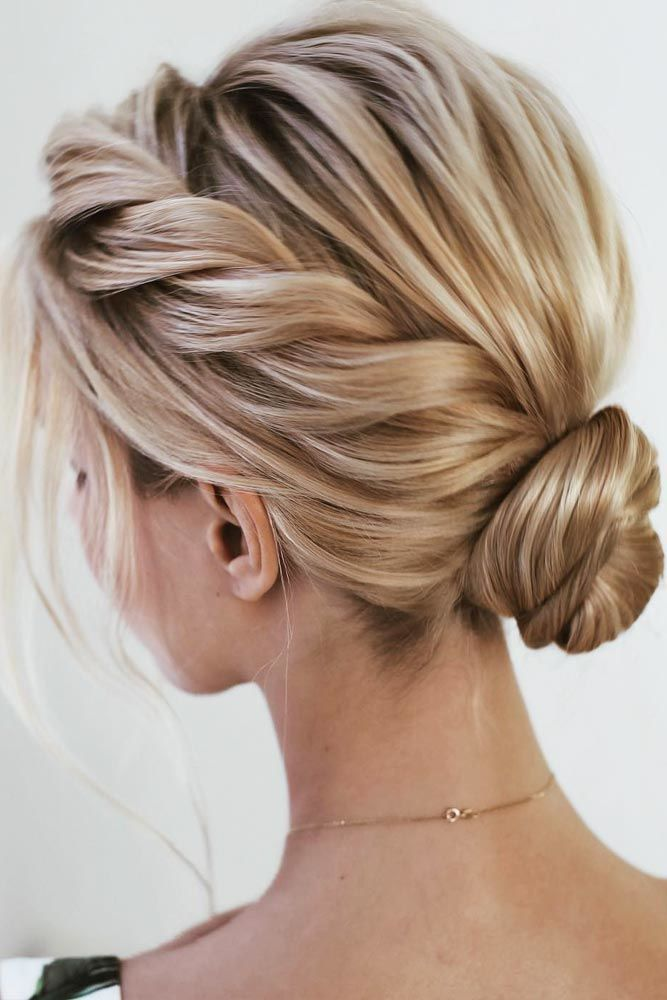 French-Roll-with-Messy-Bun 25 Prom Hairstyles 2020 for an Exquisite Look