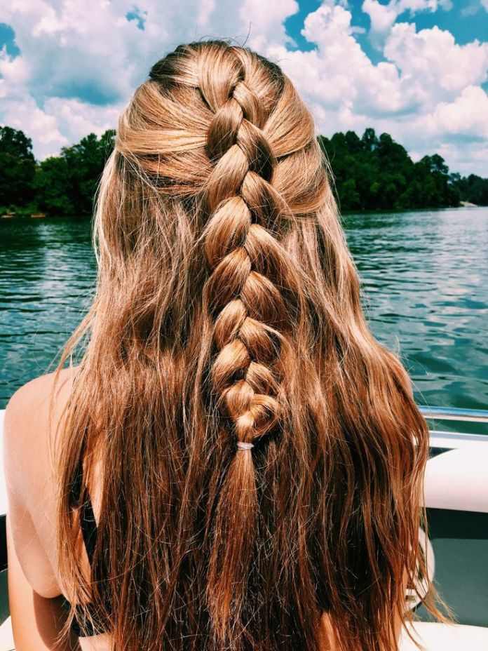 Half-Dutch-Braid-with-Half-Waves 25 Prom Hairstyles 2020 for an Exquisite Look