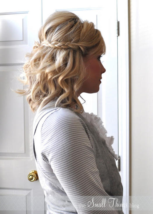 Half-Up-Braids 10 On-trend braided hairstyles for short hair