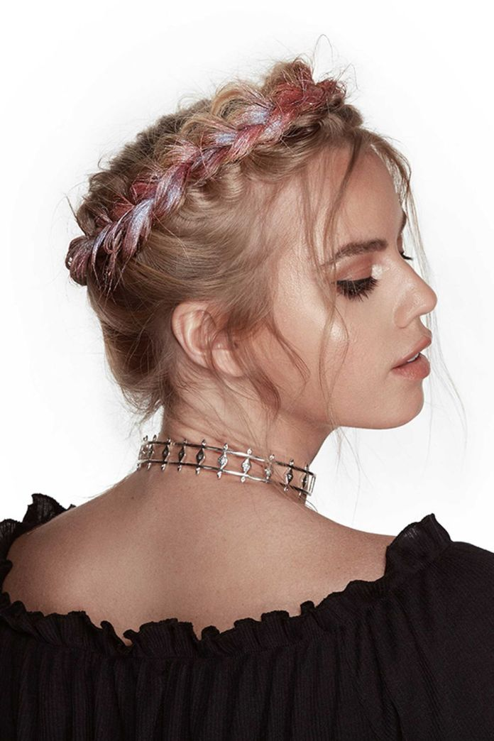 Halo-Braid-Hairstyle 25 Festival Hairstyles to Enhance Your Appearance