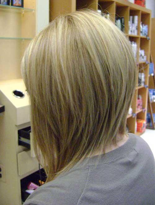 Inverted-Bob-Medium-Haircut Best Short Layered Haircuts for Women