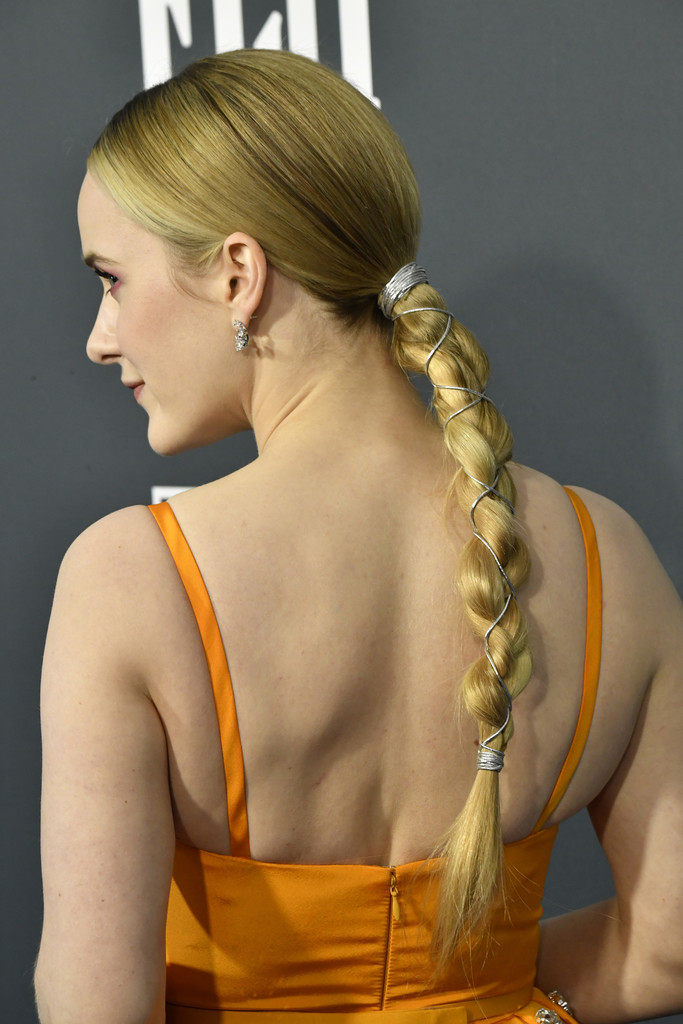 Low-Pony-with-Silver-Accessorized-Braid Hair Trends 2020 – 30 Hairstyles to Glam Up Your Look