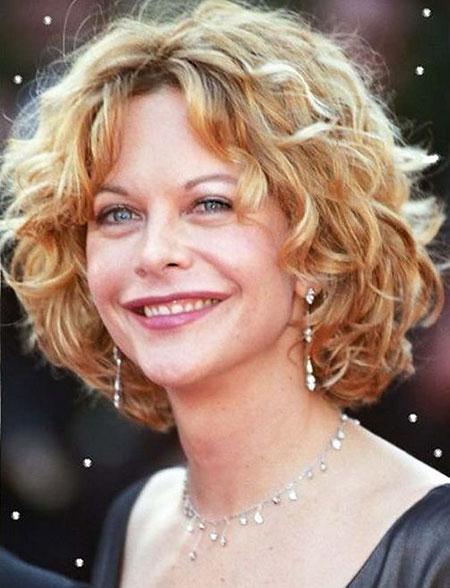 Meg-Ryan-Hair Best Short Curly Hairstyles for Women Over 50