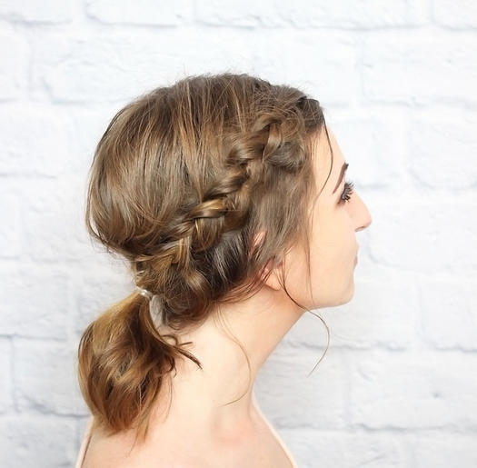 Messy-Braided-Ponytail 10 On-trend braided hairstyles for short hair