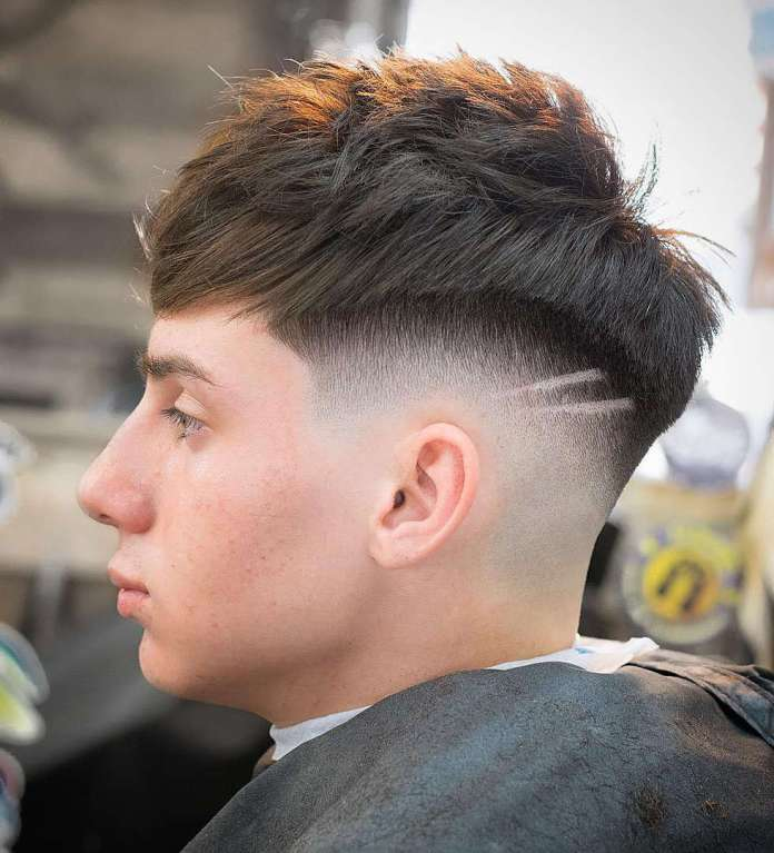 Messy-Shaved-Skin-Drop-Fade-Haircut Drop Fade Haircut for an Ultimate Stylish Look
