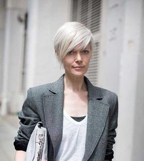 Modern-Platinum-Short-Hair 20 Layered Short Haircuts for Women
