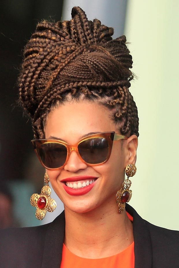 Multi-Texture-Cornrow-Turban 25 Black Braided Hairstyles for Voguish Look