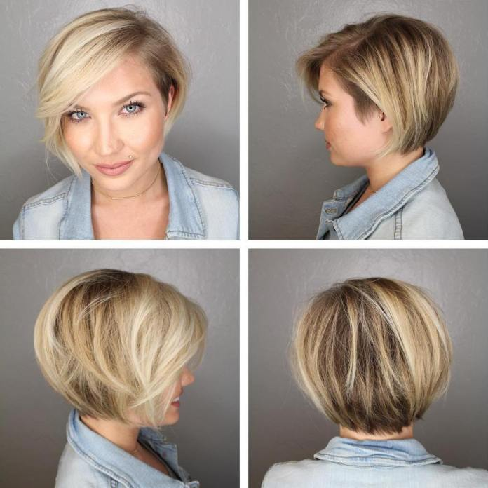 Multicolored-Asymmetric-Layered-Hairstyle 20 Short Layered Hairstyles to Look Beautiful