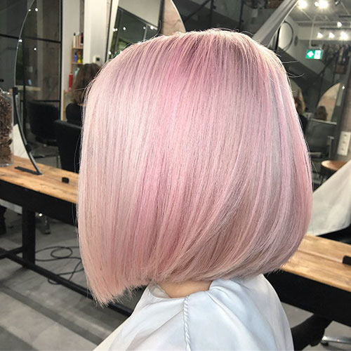 Pastel-Pink-Hair-Color Best Bob Haircuts That'll Convince You To Cut Your Hair
