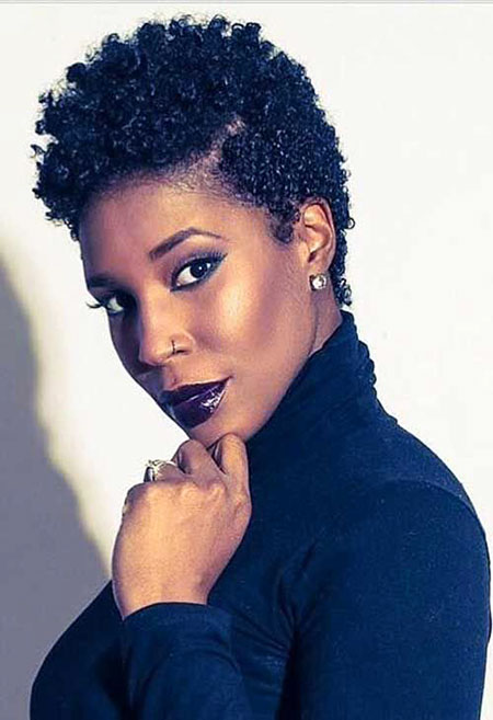 Pretty-Hairstyle 33 Short Curly Natural Hairstyles for Black Women