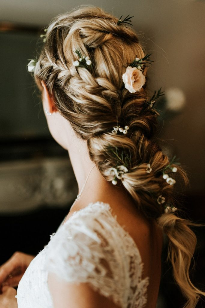 Romantic-Fishtail-Braids 21 Bridal Hairstyles 2020 for an Elegant Look