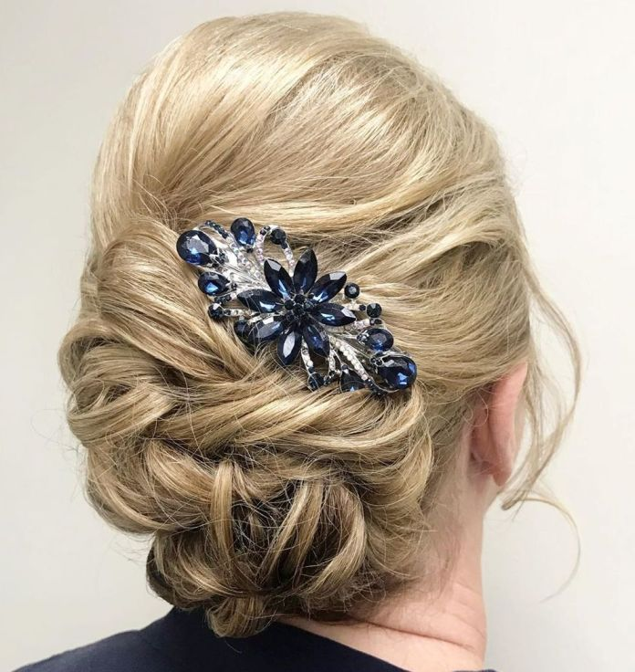 Romantic-Twisted-Bun-Updo 15 Beautiful Hairstyles for Mother of The Bride That's Easy To Put Together