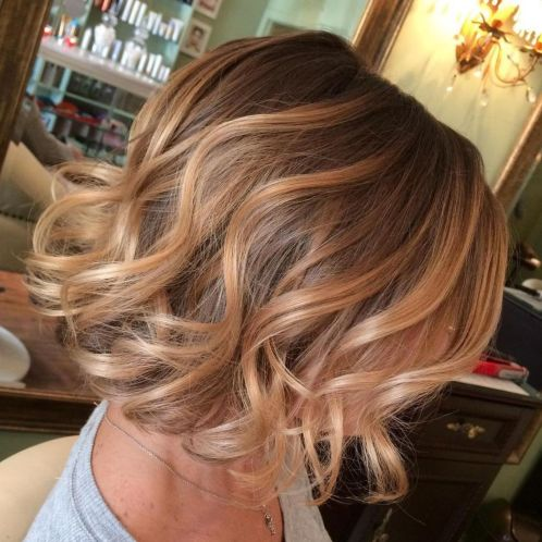 Short-Soft-Blonde-Curls 14 Trendy Balayage Short Hairstyles