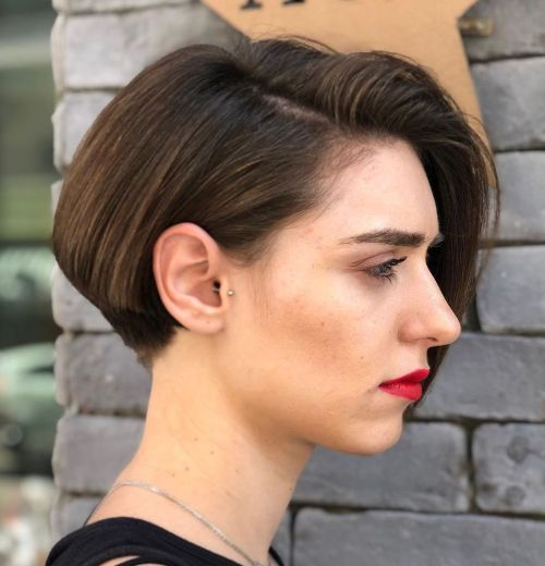 Short-Undercut-Bob-for-Thick-Hair 15 Stylish, Modern Undercut Bob Haircut in 2020