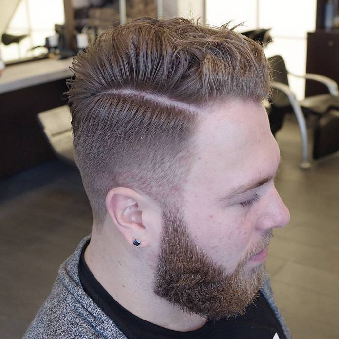 Side-Parted-Quiff-Connected-with-Beard 25 Quiff Hairstyles for Ultra Modern Look