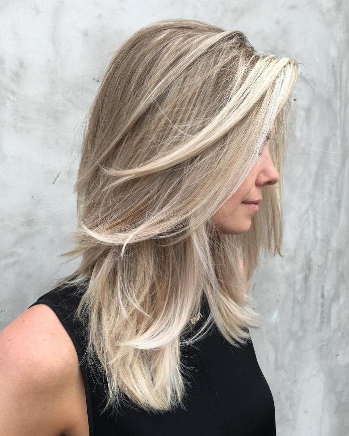 Silver-Layered-Blonde-Haircut 20 Blonde Hairstyles 2020 to Flaunt this Year
