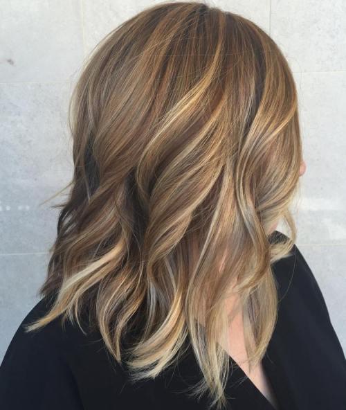 Sleek-Streaks-of-Color 14 Best Bronde Hair Options in 2020
