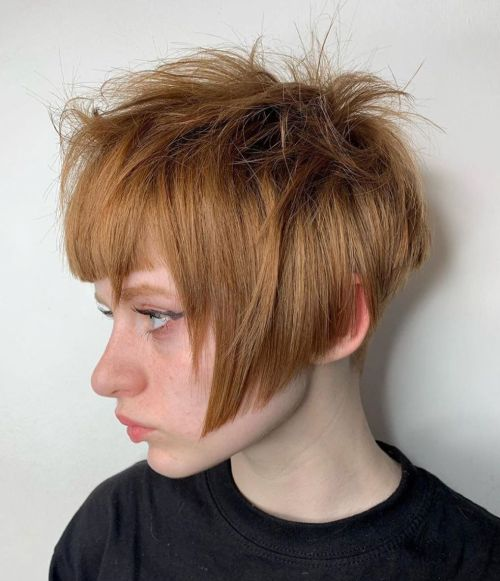 Textured-Undercut-Bob 15 Stylish, Modern Undercut Bob Haircut in 2020