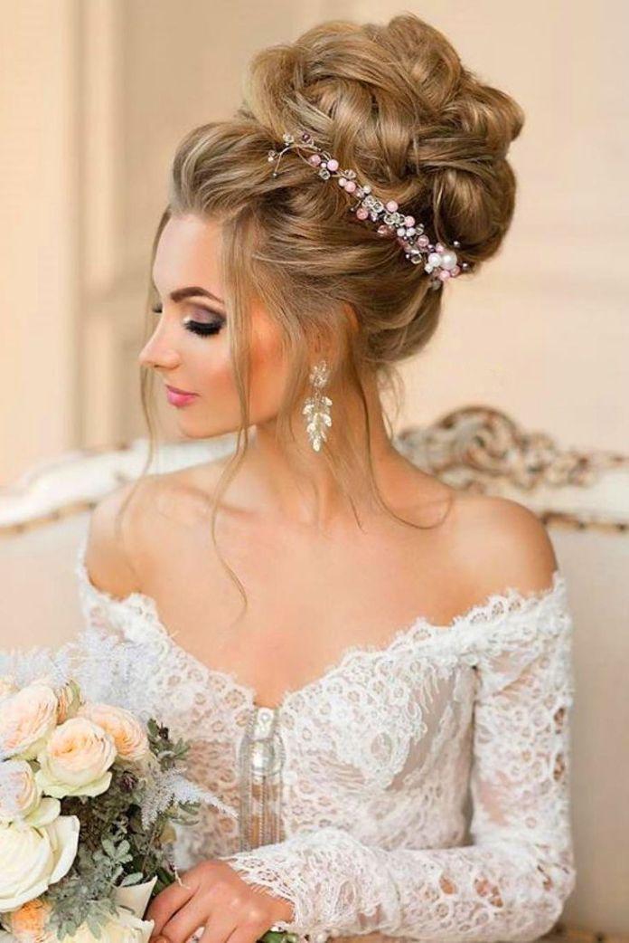 Top-Enormous-Bun 21 Bridal Hairstyles 2020 for an Elegant Look