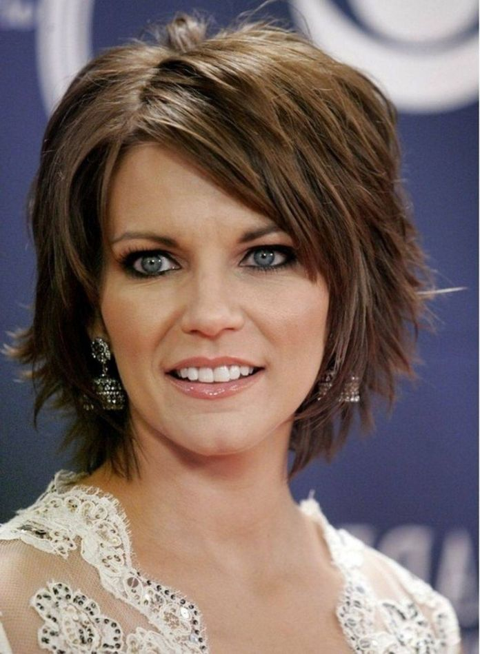 Top-to-Bottom-Asymmetric-Layered-Hairstyle 20 Short Layered Hairstyles to Look Beautiful
