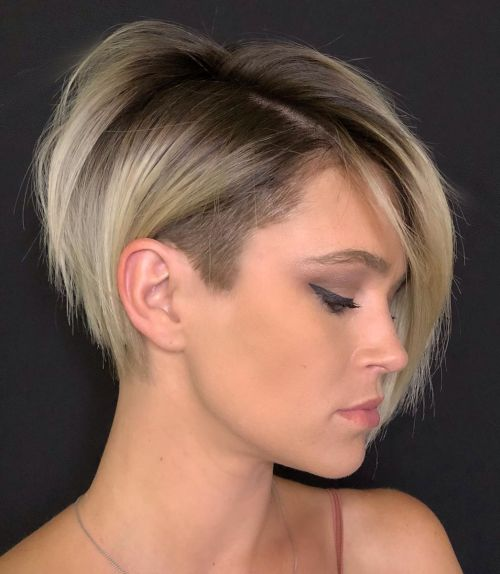 Undercut-Pixie-Bob. 15 Stylish, Modern Undercut Bob Haircut in 2020