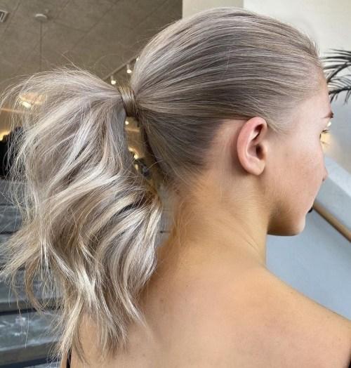 Voluminous-Wrap-Around-Ponytail 15 Fabulous Hairstyles for Fine Hair