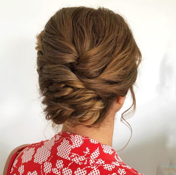 Woven-Wedding-Hairstyle-for-the-Mother-of-the-Bride 15 Beautiful Hairstyles for Mother of The Bride That's Easy To Put Together