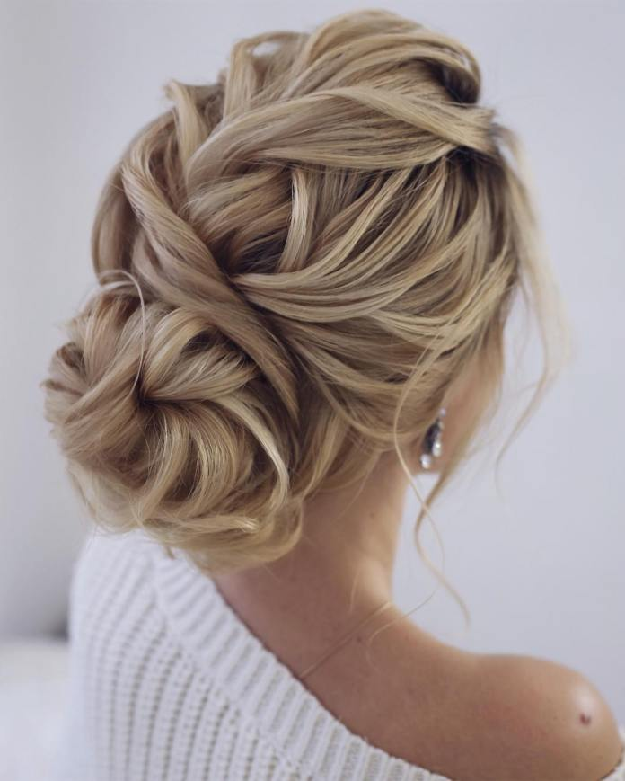 twisted-bun 20 Eye-catching Updo Hairstyles To Make Your Day